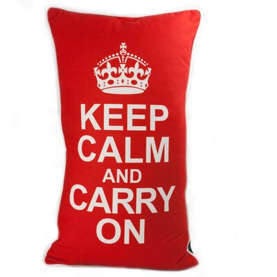 lava Keep Calm Pillow