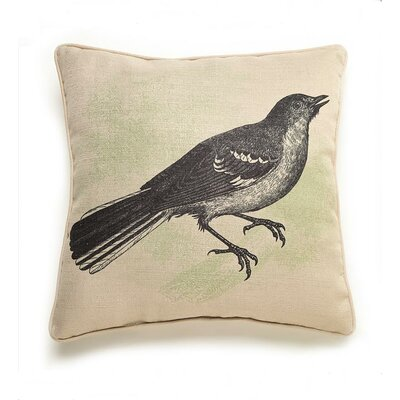 lava Bird Etching Polyester Pillow