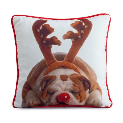 lava Holiday Bulldog Pillow