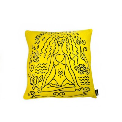 Lava Yoga Girl Feather Filled Pillow