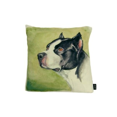 lava Lava Boxer Watercolor Feather Filled Pillow