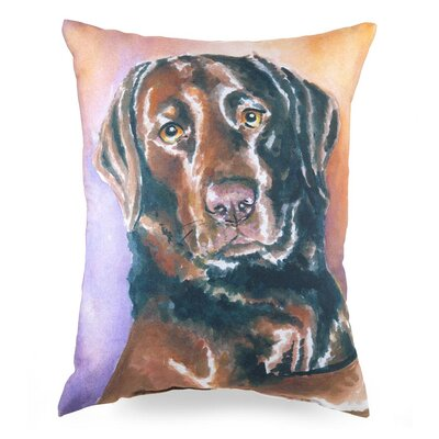 Lava Labrador Feather Filled Pillow