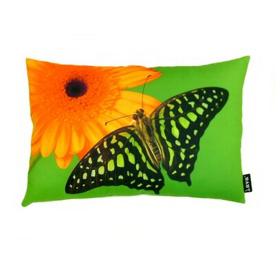 lava Butterfly on Gerber Polyester Pillow