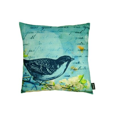 lava Bird Blue Polyester Pillow