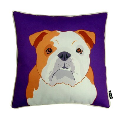 lava Bulldog Polyester Pillow