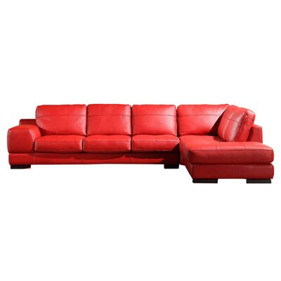 Hokku Designs Galway Leather Sectional Sofa