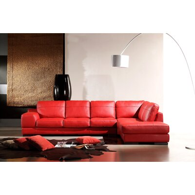 Galway Leather Sectional Sofa