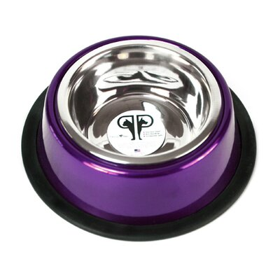 Platinum Pets Two Piece Dog Bowl with Skid Stop in Purple