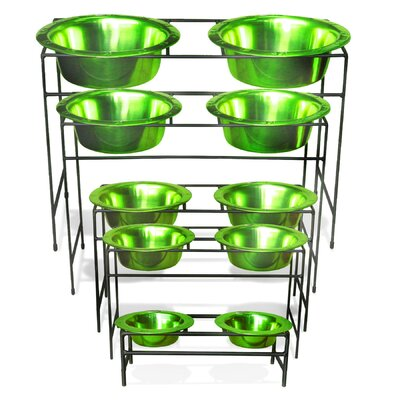 Platinum Pets Modern Diner Stand with Stainless Steel Pet Bowl (96 oz.)