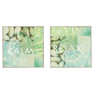 <strong>Pro Tour Memorabilia</strong> Calm and Relax 2 Piece Framed Graphic Art Set