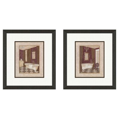 <strong>Pro Tour Memorabilia</strong> Bath Luxury Bath Framed Art (Set of 2)