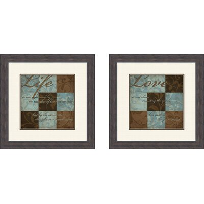 Pro Tour Memorabilia Life and Love Framed Art (Set of 2)