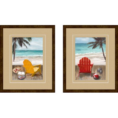 Pro Tour Memorabilia Sunny Afternoon Framed Art (Set of 2)