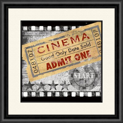 Pro Tour Memorabilia Lights Camera Action B Framed Art