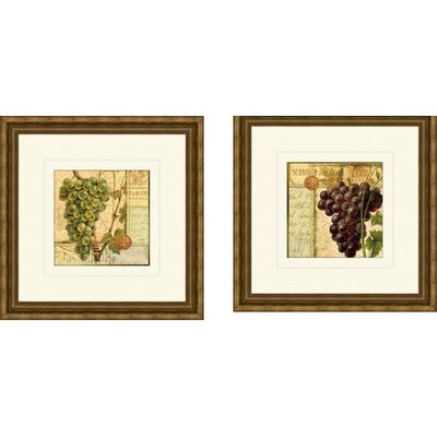 Kitchen Wine Grapes Framed Art