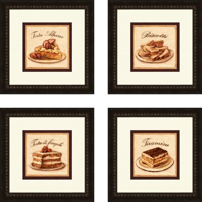 Pro Tour Memorabilia Kitchen Torta Alpine Framed Art (Set of 4)