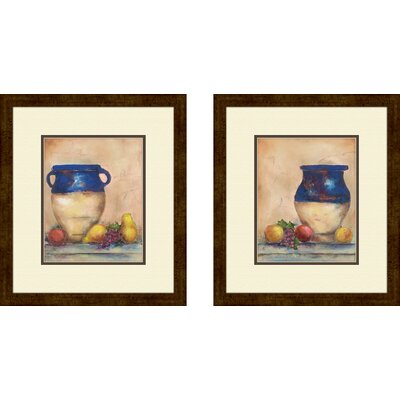 Kitchen Italian Harvest 2 Piece Framed Graphic Art Set
