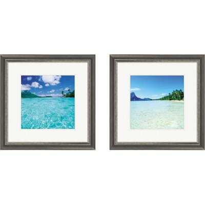Pro Tour Memorabilia Coastal Open Waters Framed Art (Set of 2)