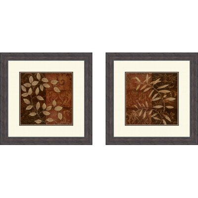Piece Botanical Autumn Framed Painting Print Set Reviews Wayfair