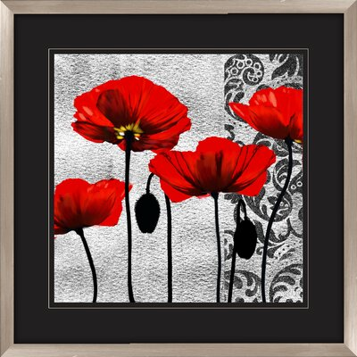 Ornate Poppie Framed Wall Art (Set of 2)
