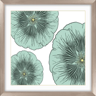 Pro Tour Memorabilia Floral Framed Wall Art