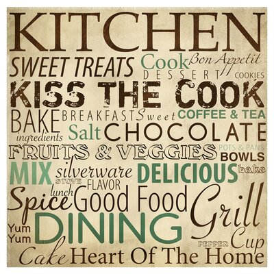 Kitchen Typography Textual Art