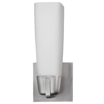AFX Lighting, Inc. Delta One Light Wall Sconce in Satin Nickel
