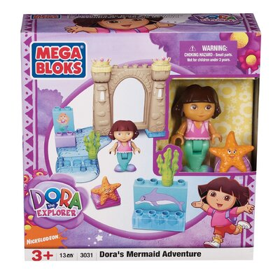 Mega Brands Nickelodeon Dora the Explorer Mega Bloks Mermaid Adventure