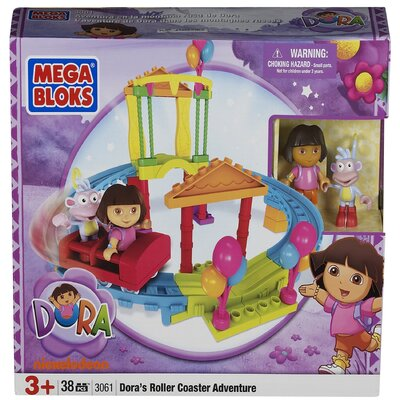 Nickelodeon Dora the Explorer Mega Bloks Roller Coaster Adventure
