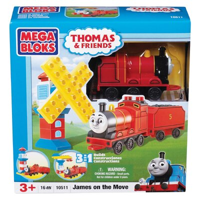 Mega Brands Mega Bloks Thomas 3-in-1 Buildable-James on the Move