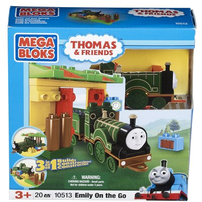 Mega Brands Mega Bloks Thomas 3-in-1 Buildable-Emily On the Go
