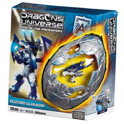 Mega Brands Dragon Universe Alliance Dragon Egg Blizzard Glaragon