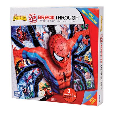 300 Piece 3D Breakthrough Spiderman Puzzle