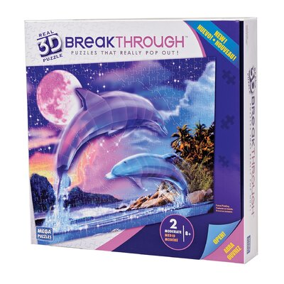 200 Piece 3D Breakthrough Dolphins Puzzle
