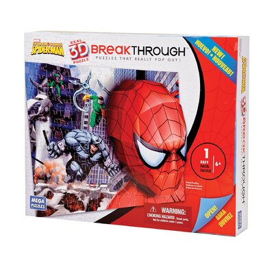 100 Piece 3D Breakthrough Spiderman Puzzle