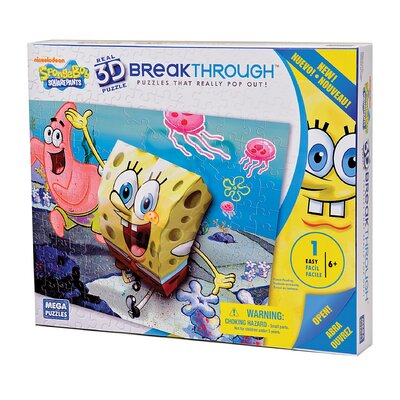 100 Piece 3D Breakthrough Sponge Bob and Patrick Puzzle