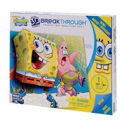 100 Piece 3D Breakthrough Sponge Bob Skate Puzzle