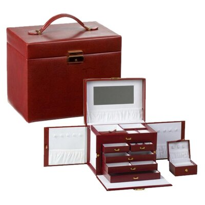 Milan Red Jewelry Case