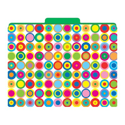 Barker Creek &amp; Lasting Lessons Functional File Folders Disco Dots, 12-Pack