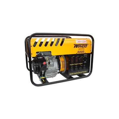 Industrial Series 6,000 Watt Recoil / Electric Start Portable Gas Generator - WC6000HE