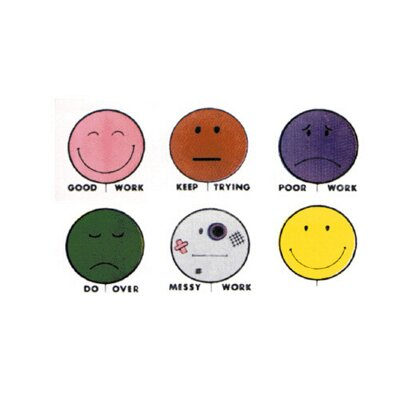Center Enterprises Inc Grading Stamps Smile Balloons (Set of 6)
