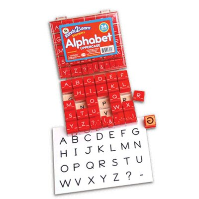 Center Enterprises Inc Manuscript Alphabet Stamp Set 1