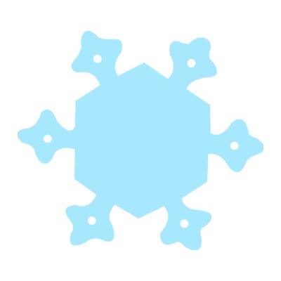 Creative Teaching Press Calendar Cut-outs Snowflake 31/pk