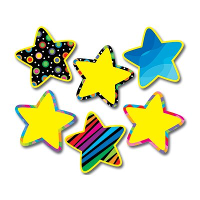 Creative Teaching Press Poppin Pattern Stars Jumbo Cut Outs