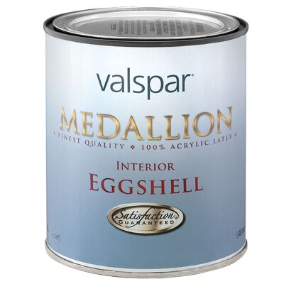 Valspar 1 Quart Clear Base Medallion Interior 100% Acrylic Paint Eggshell