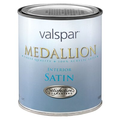 Valspar 1 Quart White Base Medallion 100% Acrylic VOC Interior Paint Satin