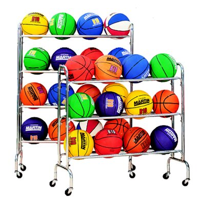 Dick Martin Sports Portable Ball Rack Holds 16-4 Tiers