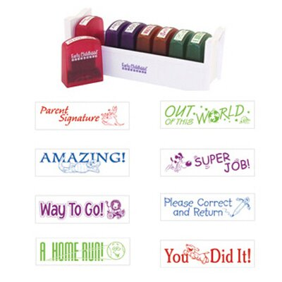 Early Learning Resources LLC Self-inking Teacher Stamps Set 1
