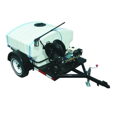 4000 PSI Cold Water Gas Trailer Mounted Pressure Washer with 14 HP Hatz Diesel Engine ...