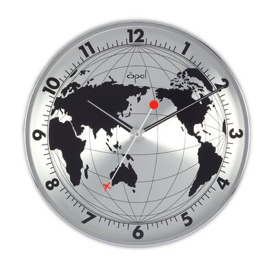 Opal Luxury Time Products Opal Stainless Steel Round Clock